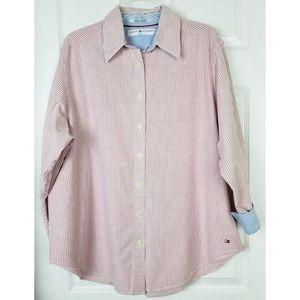 Tommy Hilfiger stripped Button down shirt size 1X